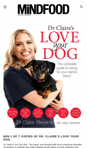 MindFood – Win 1 of 7 Copies of Dr Claire's Love Your Dog (prize valued at $39.99)