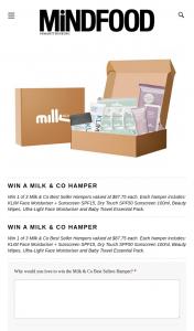 MindFood – Win 1 of 3 Milk & Co Best Seller Hampers Valued at $87.75 Each (prize valued at $87.75)