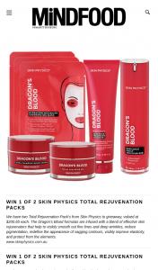 MindFood – Win 1 of 2 Skin Physics Total Rejuvenation Packs (prize valued at $200.65)