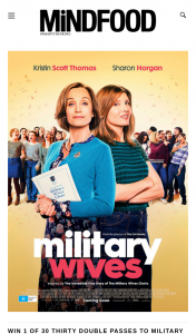 Mindfood – Win 1 of 30 Thirty Double Passes to Military Wives (prize valued at $40)