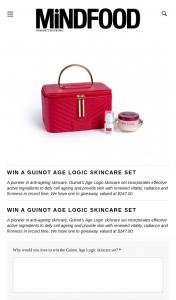 MindFood – Win The Guinot Age Logic Skincare Set (prize valued at $247)