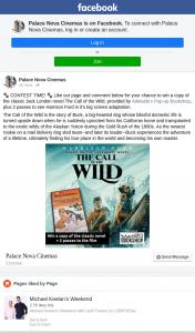 Palace Nova Cinemas – Win a Copy of The Classic Jack London Novel The Call of The Wild