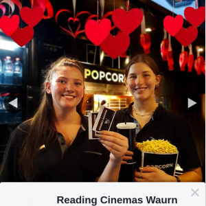 Reading Cinemas Waurn Ponds – Win a Double Pass for Valentine's Day