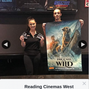 Reading Cinemas West Lakes – Win a The Call of The Wild Double Pass