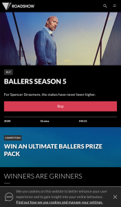 Roadshow – Win a Ballers Prize Pack Containing Ballers Season 1-5 Box Set