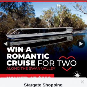 Stargate Shopping Centre – Win a Romantic Cruise and Lunch In The Swan Valley With Your Valentine