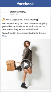 Status Anxiety – Win a Bag for You and a Friend