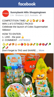 Sunnybank Hills Shoppingtown – Win 1 of 3 Stikeez Packs (prize valued at $25)