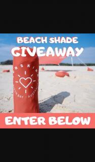 Sunskin Beach Shade Winner announced 14th – Win The Ultimate Beach Shade