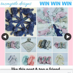 Tazmyrtle Designs – Win We'll Refund Your Bunny