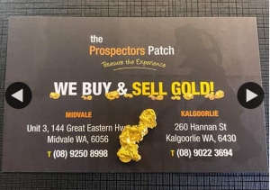 The Prospectors Patch – Win 2.84 Gram Natural Gold Nugget From Kalgoorlie Wa