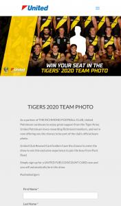 United Petroleum – Win a Seat In The Richmond Fc 2020 Team Photo