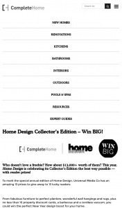 Universal magazines – Complete Home / Home Design – Win The Perfect New Year Design Boost for Your Home