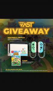 Vast giveaway – Win an Animal Crossing Nintendo Switch