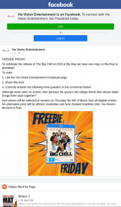 Via Vision Entertainment – Win a Copy of The Big Chill on Bluray