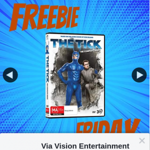Via Vision Entertainment – Win a Copy of The Tick Complete Series