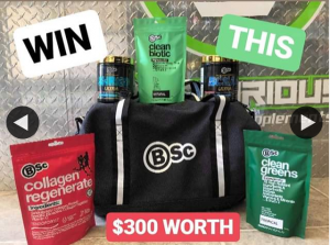 Victorious Fitness Supplements – Win this Huge $300 Bsc Pack (prize valued at $300)