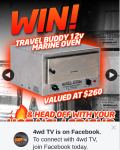 4wd TV – Win a Travel Buddy Oven