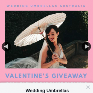 Wedding Umbrellas Australia – Win a Bulk Pack of Our Paper Parasols