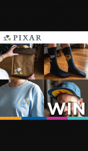 Zing Pop culture – Win a Iconic Pixar Prize Pack