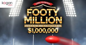 Kogan Australian – Footy Million – Win a major prize of up to $1 Million OR 1 of 20 minor prizes