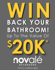Novale Bathrooms – Win Back Your Bathroom valued up to $20,000