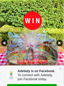 Adelady – Win a Giant Food Hamper for You and a Friend Full of Goodies From Both Spring Gully and Leabrook Farms Worth $100 Each