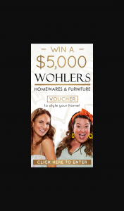 Adelady – Win a Huge $5000 Voucher to Spend at Wohlers Furniture & Homewares