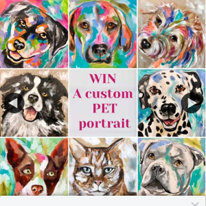 Amanda Brooks Artist – Win a Custom Pet Portrait on Canvas