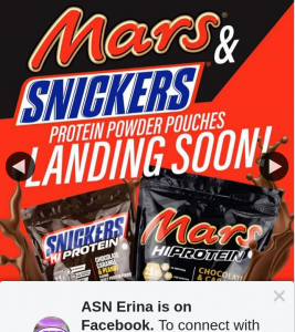 ASN Erina – Win Mars & Snickers Protein Gift Pack (prize valued at $200)