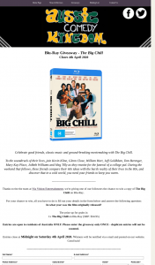 Aussie Comedy Kingdom – Win a Copy of The Big Chill on Blu-Ray