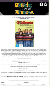Aussie Comedy Kingdom – Win a Copy of The Goldbergs