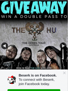 Beserk – Win a Double Pass to The Hu With Plini Thanks to Live Nation Australia & New Zealand