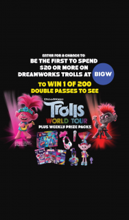 Big W – Win 1 of 200 Double Passes to See The Movie (prize valued at $1)