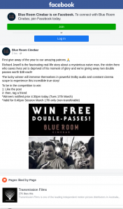 Blue Room Cinebar – Win a Double Pass to See Richard Jewell Tonight