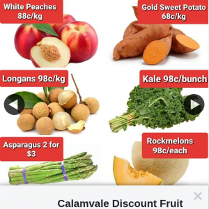 Calamvale Discount Fruit Barn – Win a $60 Fruit and Veg Voucher (prize valued at $60)