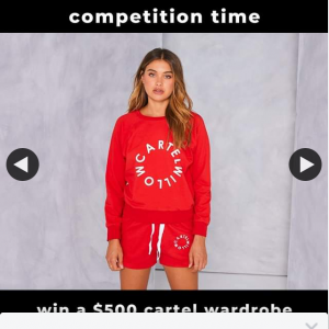 Cartel and Willow – Win a $500 Wardrobe (prize valued at $500)
