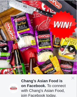 Chang's Asian Food – Win Chang's Products Kitchenware (prize valued at $349)