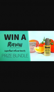 Channel 7 – Sunrise Family – Win a Raww Beauty Bundle In this Week's Sunrise Family Newsletter (prize valued at $500)