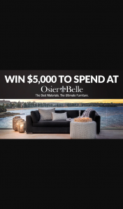 Channel 7 – Sunrise Family – Win $5000 to Spend at Osier Belle In this Week's Sunrise Family Newsletter (prize valued at $5,000)
