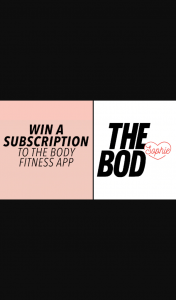 Channel 7 – Sunrise – Win a 3-month Subscription for Body Transformation Program The Bod