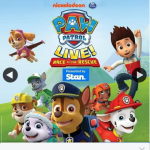 Child Blogger – Win a Family Pass to Paw Patrol Live
