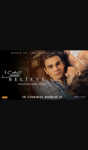 Community News – Win 1 of 20 Double Passes to I Still Believe