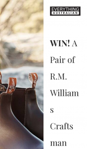 Everything Australian – Win a Pair of Rmwilliams Boots