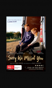 Female – Win One of 10 X Sorry We Missed You on DVD