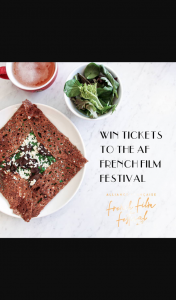 Four Frogs Creperie – Win a Double Pass to The @af_fff_aus