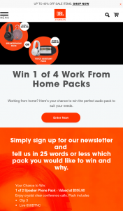 Harman International – Win 1 of 4 Work From Home Packs (prize valued at $335.9)