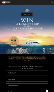 IGA Liquor – Win a Trip for Two (2) Adults The Great Barrier Reef Valued at Up to Au$8000 Depending on Date and Point of Departure (prize valued at $8,000)