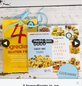 4 Ingredients – Win 1/4 Bundles Cookbooks & Well & Good Cheesy Mac (prize valued at $59.99)