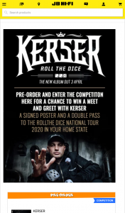JB HiFi Pre-Order Kerser's new album to – Win a Meet & Greet With The Band